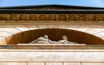 Villa Malaspina particolare della finestra termale.